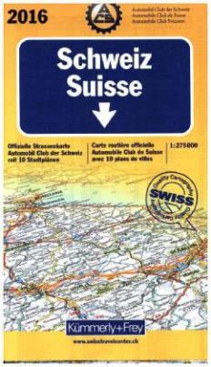 Kümmerly & Frey Karte Schweiz ACS, Ausgabe 2016