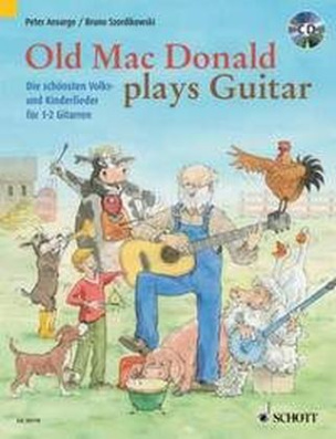Old Mac Donald plays Guitar, für 1-2 Gitarren, m. Audio-CD