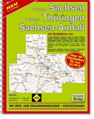 Doktor Barthel Atlas Freistaat Sachsen, Freistaat Thüringen, Sachsen-Anhalt