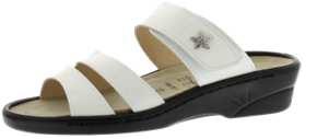 Sandalen aus Lackleder weiß Größe 40