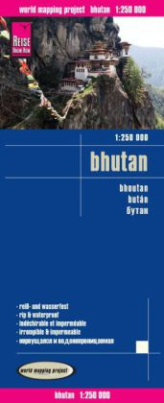 World Mapping Project Reise Know-How Landkarte Bhutan (1:250.000)