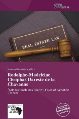 Rodolphe-Madeleine Cleophas Dareste de la Chavanne