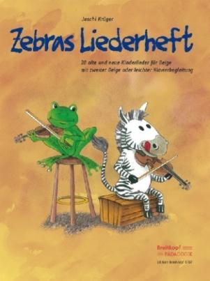 Zebras Liederheft, für Geige mit zweiter Geige oder leichter Klavierbegleitung