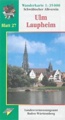 Topographische Wanderkarte Baden-Württemberg Ulm - Laupheim
