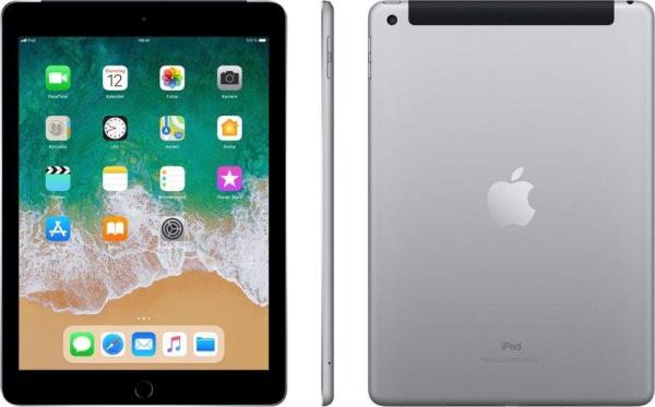 "APPLE Tablet ""iPad"" (9,7 Zoll, Wi-Fi + Cellular, 128 GB, 6. Generation, grau)"