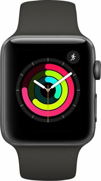 "APPLE Smart Watch ""Watch Series 3"" (GPS, 42 mm Aluminiumgehäuse, Space Gray\/Anthrazit)"