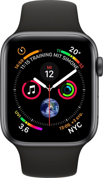 "APPLE Smart Watch ""Watch Series 4"" (GPS, 40 mm Aluminiumgehäuse, Space Grau/Schwarz)"