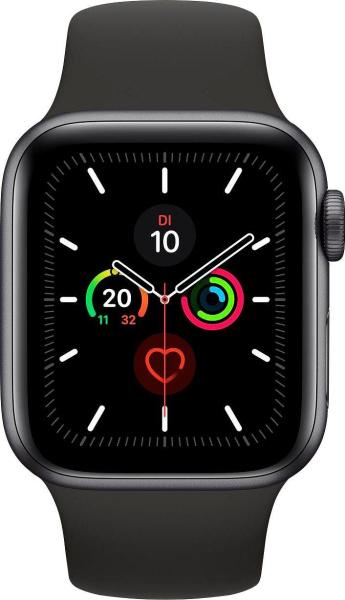 "APPLE Smart Watch ""Watch Series 5"" (GPS + Cellular, 40 mm, Aluminiumgehäuse, space grau/schwarz)"