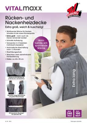 Rücken- und Nackenheizdecke grau VITALmaxx