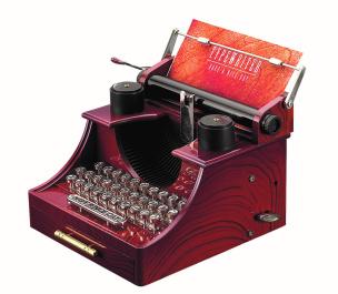 Schmuckkästchen Spieldose Retro Schreibmaschine