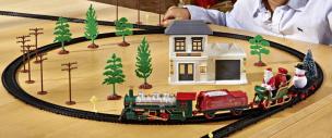 "Eisenbahn Set ""Weihnachtszug"""