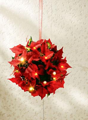 LED Kugelleuchte Weihnachtsstern