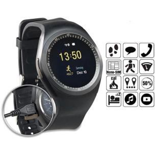 Smartwatch mit SIM-Karten-Zugang schwarz