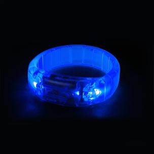 Leuchtarmband mit Musiksensor blau