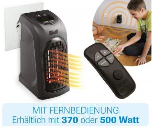 Mini-Heizung 370W mit Fernbedienung