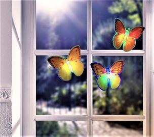 LED-Schmetterlinge 3er Set