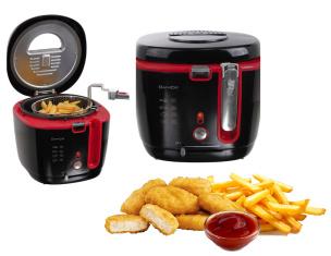 Fritteuse schwarz/rot  2,5 Liter