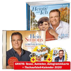 Heintje & Ich + Lebenslieder + GRATIS Tasse + Autogrammkarte + Fan-Aufkleber + Kalender 2020