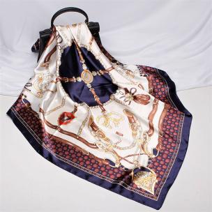Damen Schal Halstuch blau