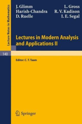 Lectures in Modern Analysis and Applications II. Vol.2