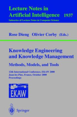 Knowledge Engineering and Knowledge Management. Methods, Models, and Tools