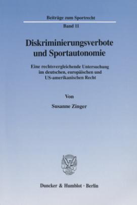 Diskriminierungsverbote und Sportautonomie