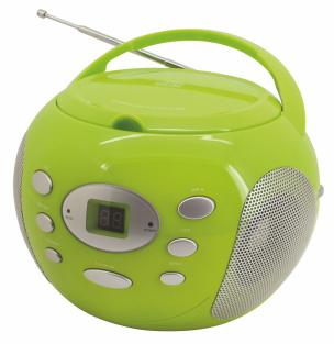 CD-Boombox mit Aux-In in GRÜN