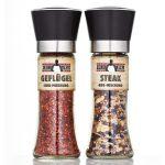 Calli Grill Gewürzmühlen 2er-Set inkl. Steak und Geflügel BBQ Mischung