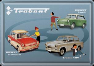 "Trabant Blechpostkarte ""16329"" 10x14cm"