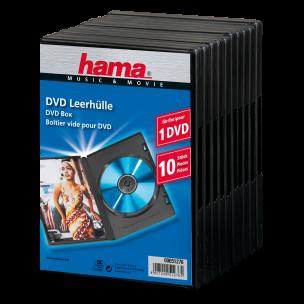 DVD-Leerhülle, Standard, 10er-Pack, schwarz