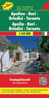 Freytag & Berndt Autokarte Apulien, Bari, Brindisi, Taranto. Apulia, Bari, Brindisi, Taranto