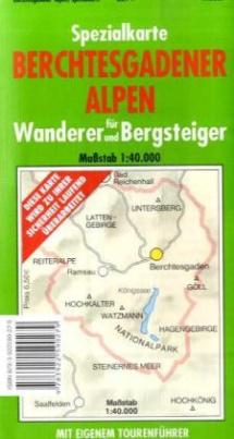 Spezialkarte Berchtesgadener Alpen für Wanderer und Bergsteiger