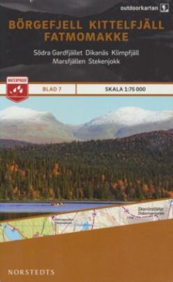Outdoorkartan Schweden - Börgefjell Kittelfjäll Fatmomakke