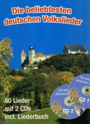 Die beliebtesten deutschen Volkslieder, Großdruckausgabe, m. 2 Audio-CDs