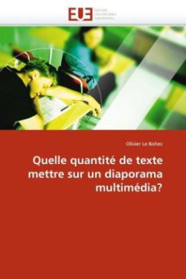 Quelle quantité de texte mettre sur un diaporama multimédia?