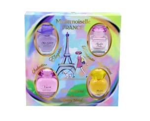 Mademoiselle France 4 Miniatures Eau de Parfum für Sie