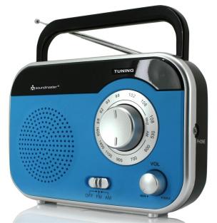 Koffer-Radio mit Kopfhörerbuchse - blau