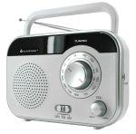 Koffer-Radio mit Kopfhörerbuchse - weiß