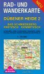 Rad-, Wander- und Gewässerkarte: Dübener Heide 2