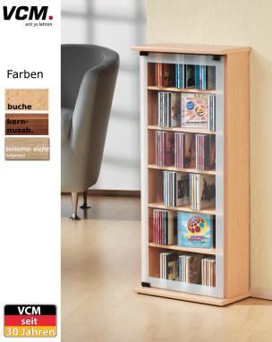 """CD-Schrank """"Classic - buche"""" für 150 CDs"""