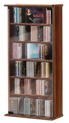 """CD-Schrank""""Vetro - kern-nussbaum"""" für 150 CDs"""
