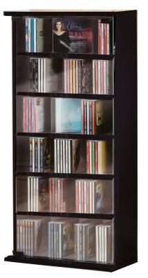 """CD-Schrank """"Vetro - schwarz"""" für 150 CDs"""