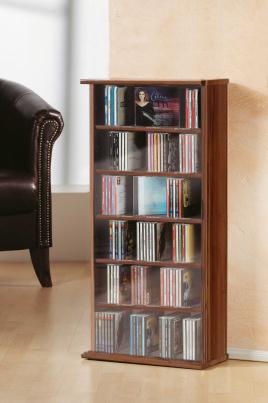 """CD-Regal """"Vostan - kern-nussbaum"""" für 150 CDs"""